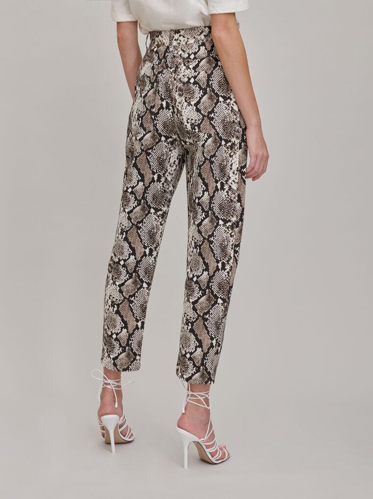 "The Attico ""Dua"" python-printed pants 2"