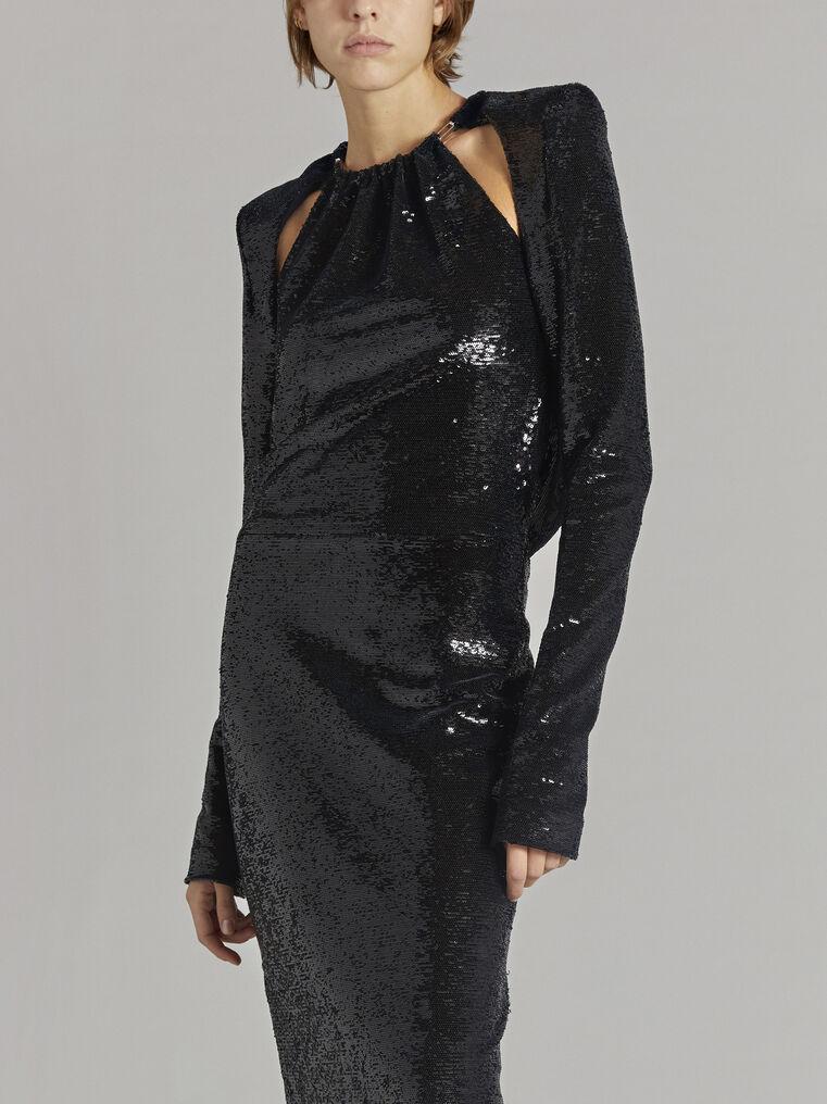 THE ATTICO ''Luna'' black long dress 2