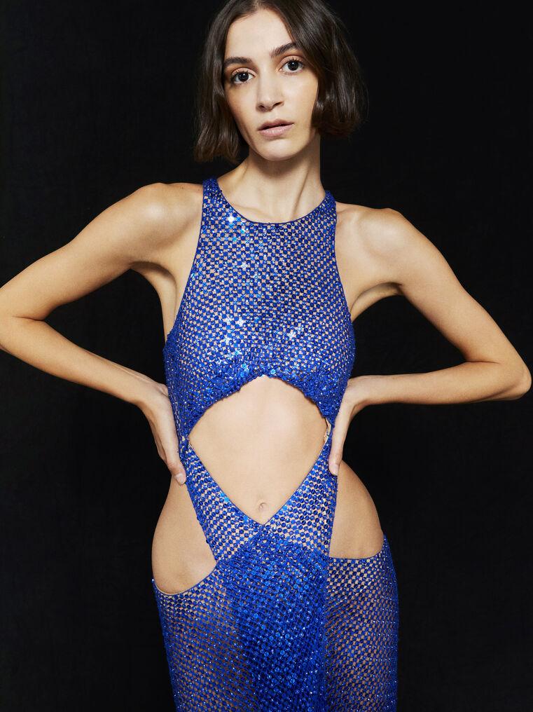 THE ATTICO ''Magnolia'' blue long dress 2