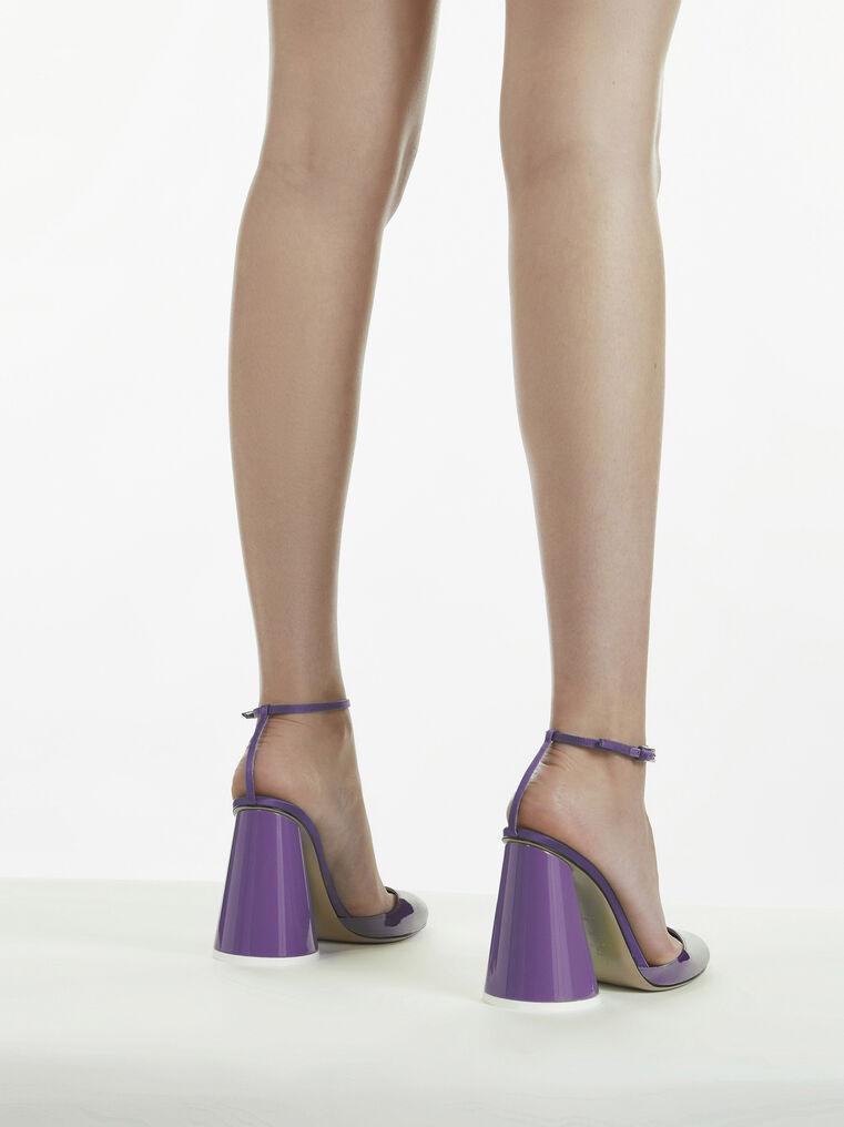 THE ATTICO ''Luz'' violet slingback 3