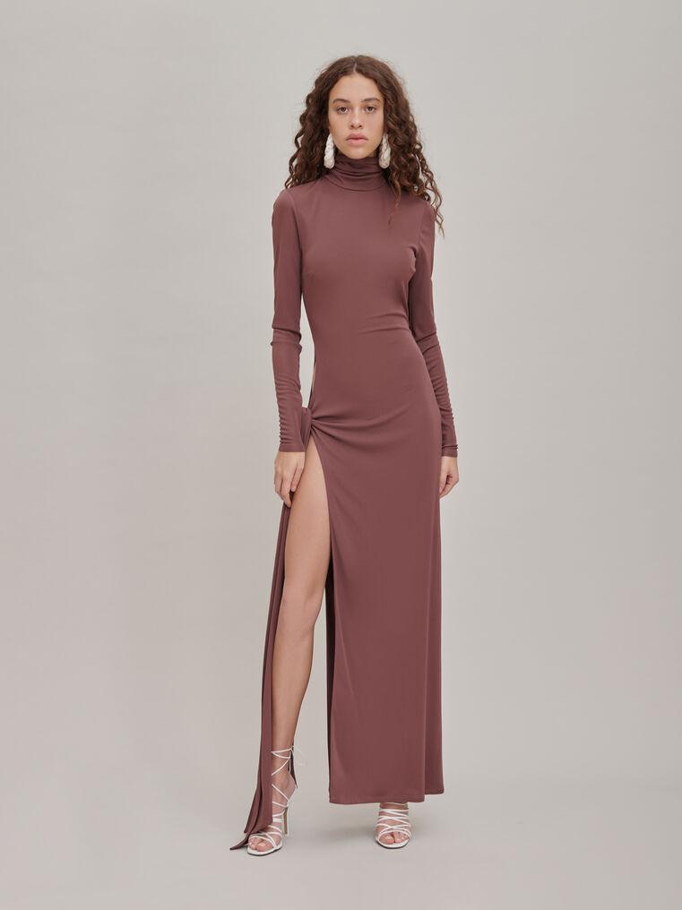 """The Attico """"Camille"""" brown knotted midi dress 1"""