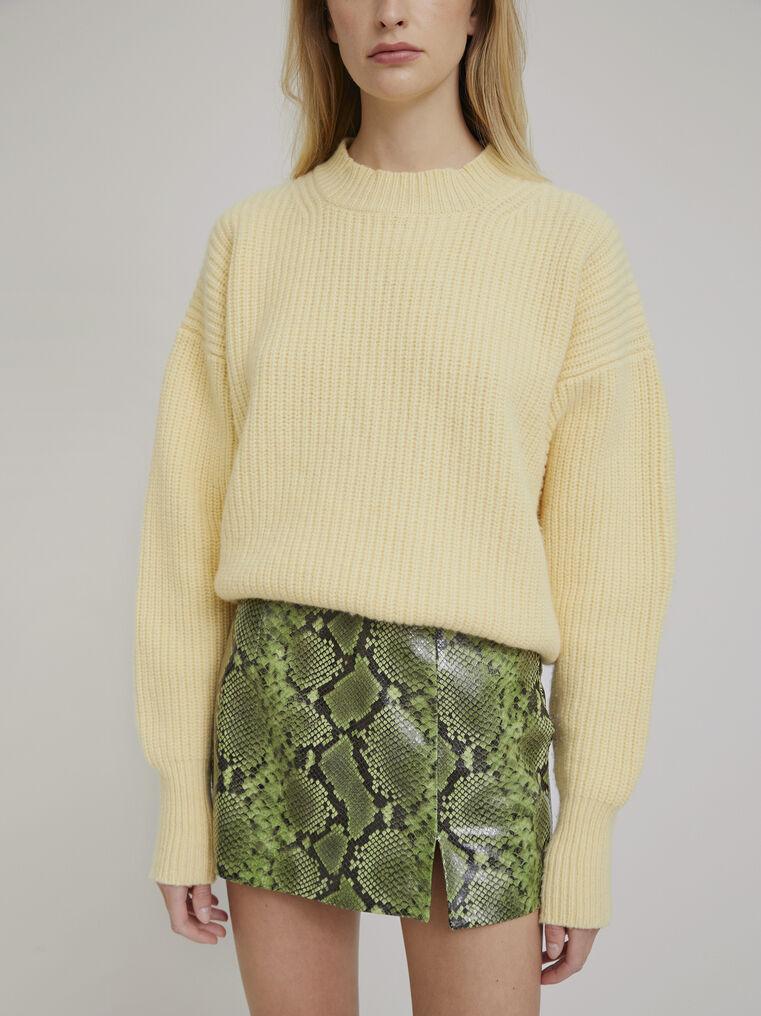 The Attico Yellow lambswool sweater 2