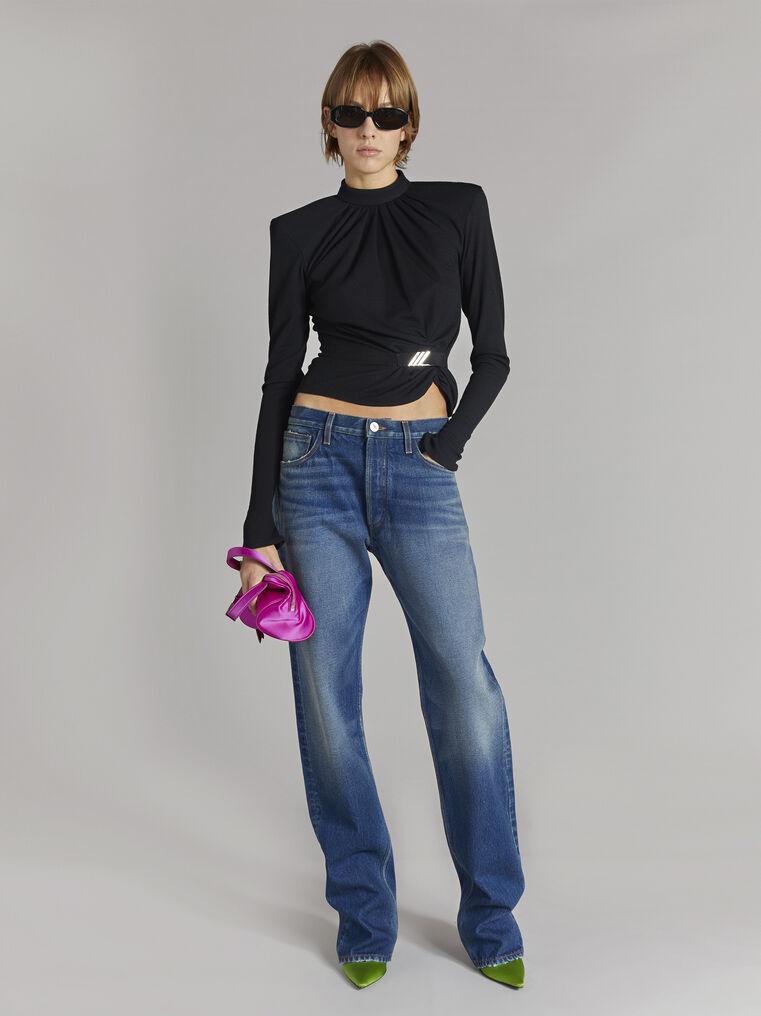 THE ATTICO Boyfriend dark blue jeans 1