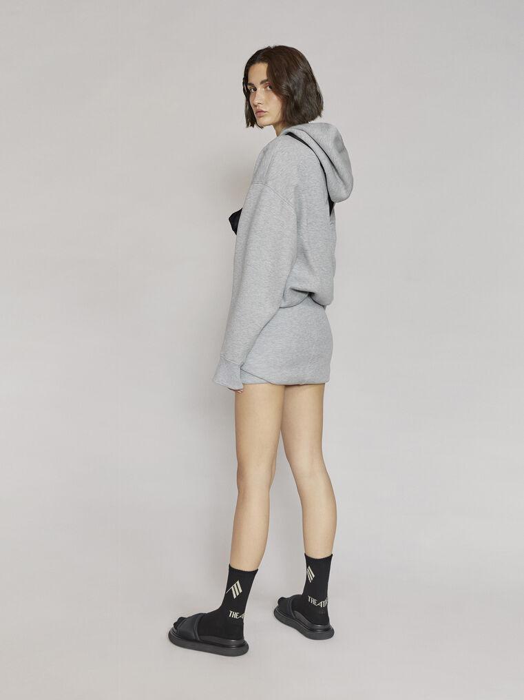 "THE ATTICO ""Maeve"" light grey sweater 3"