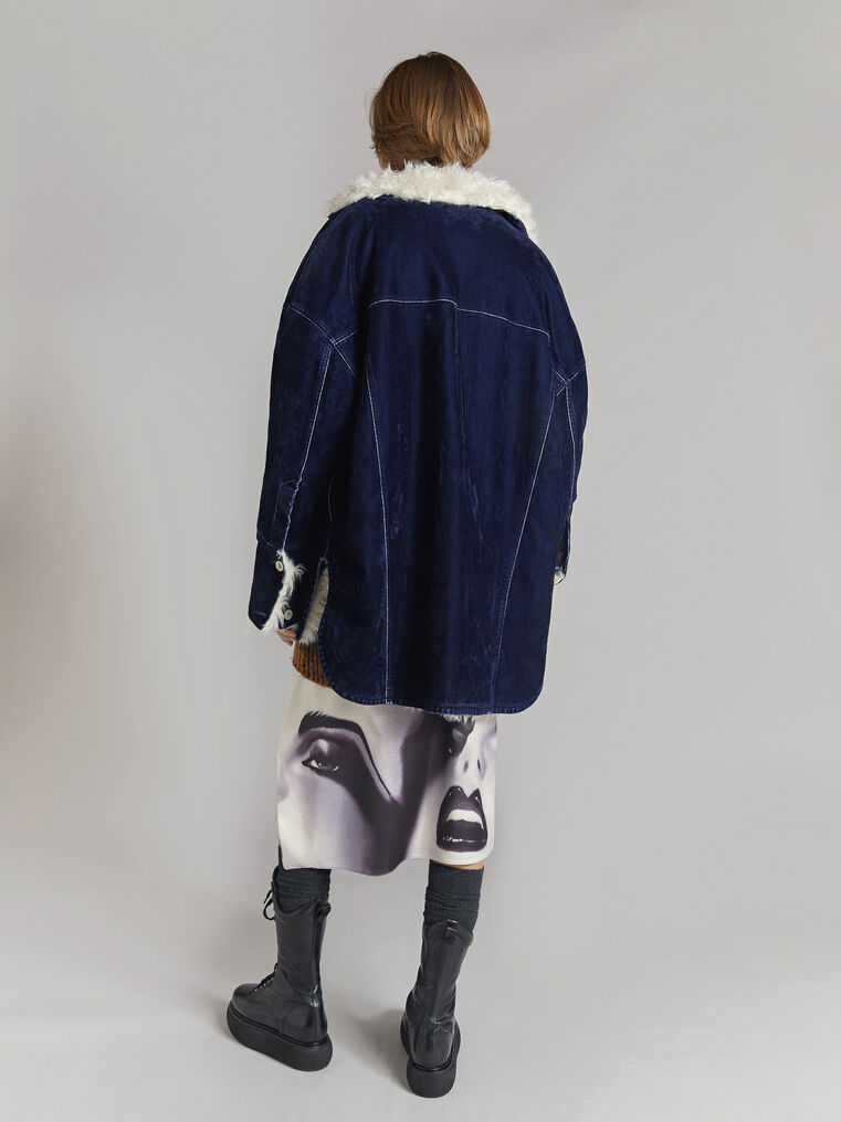 THE ATTICO ''Janet'' midnight blue coat 3