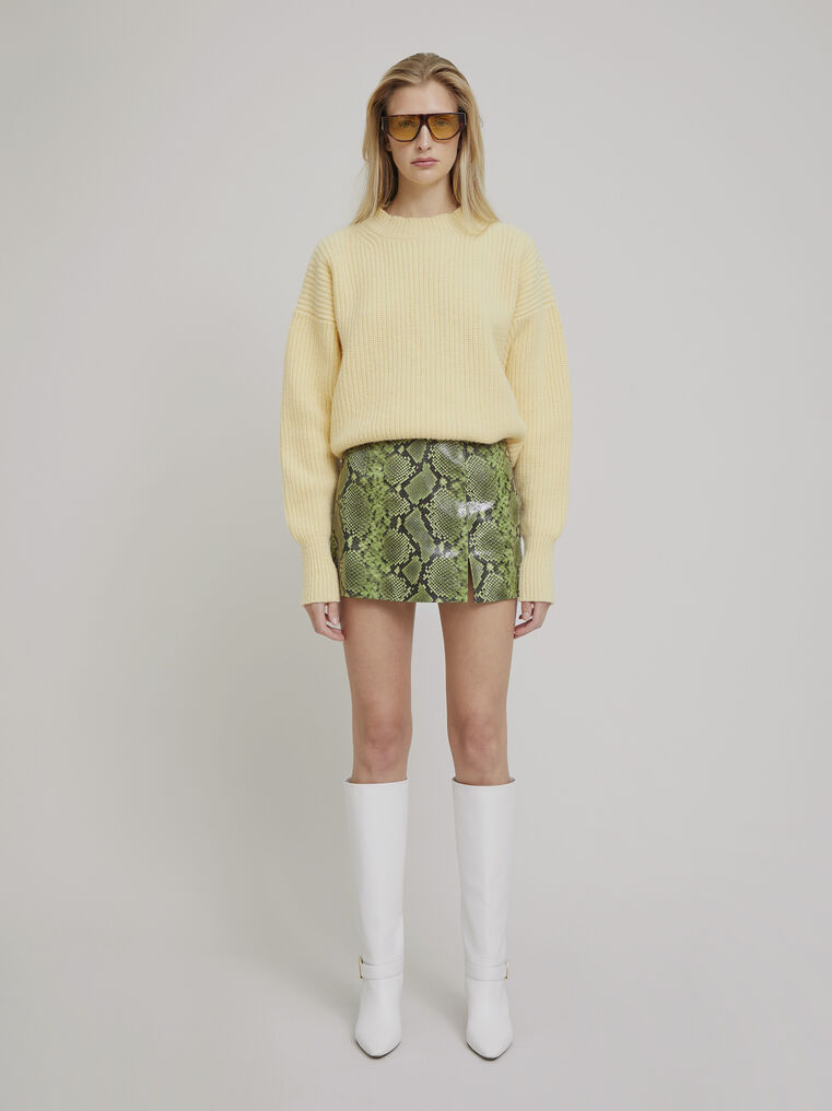 The Attico Yellow lambswool sweater 1