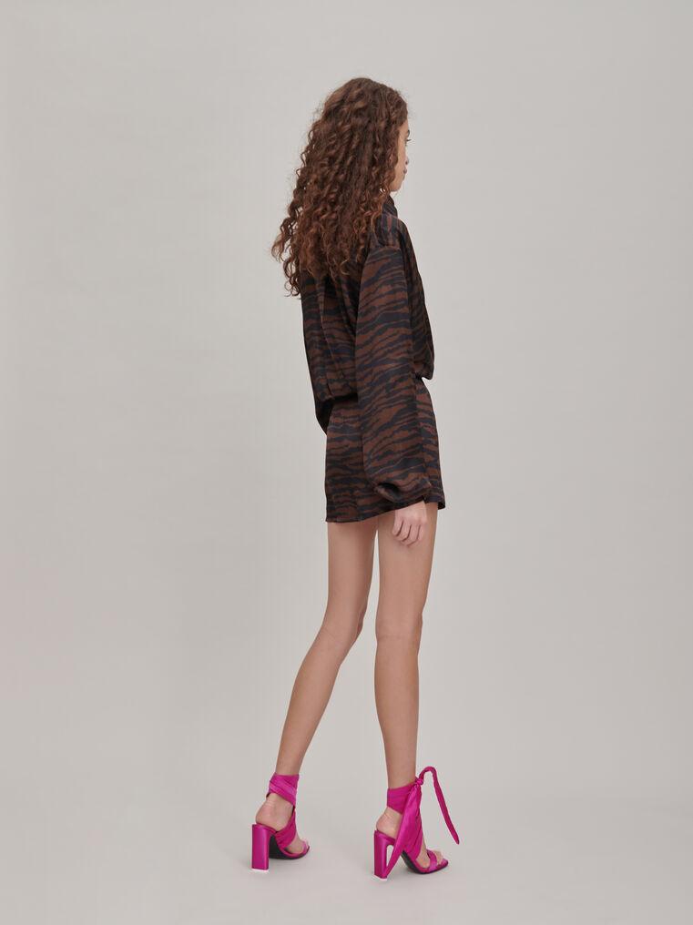 """The Attico """"Gigi"""" zebra print chemisier mini dress 2"""