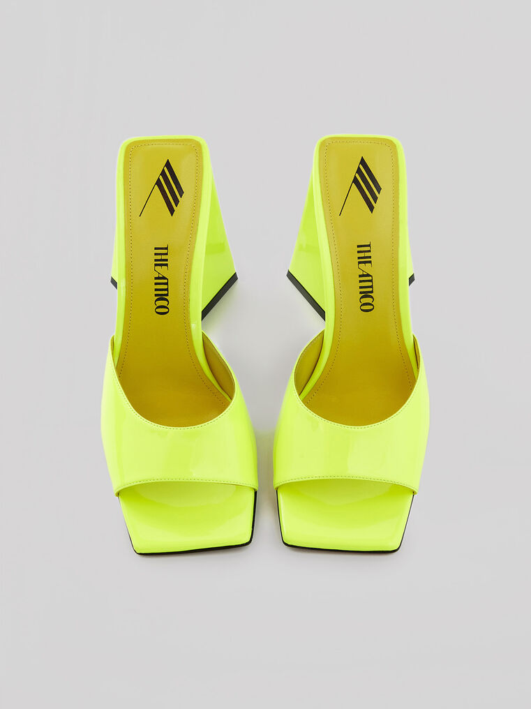 """THE ATTICO """"Devon"""" neon yellow mule 2"""