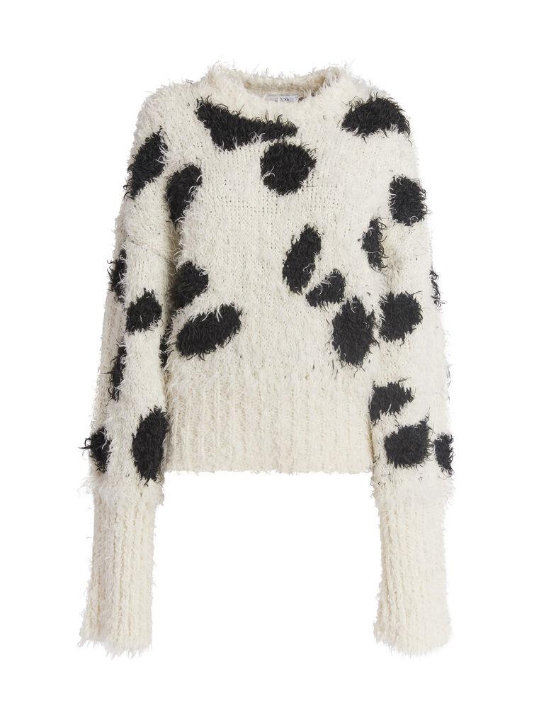 THE ATTICO Black and white sweater 4