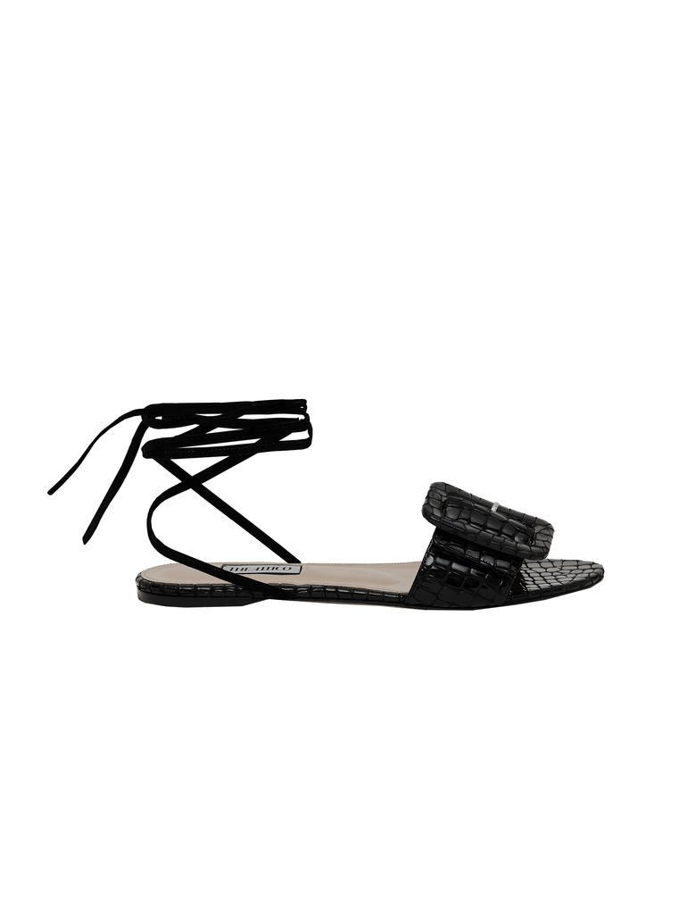 The Attico Flat Sandal With Buckle 4