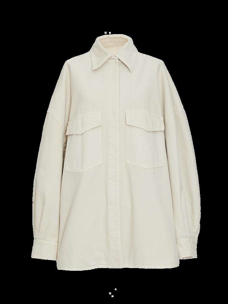"""The Attico """"Lotta"""" white denim shirt 4"""