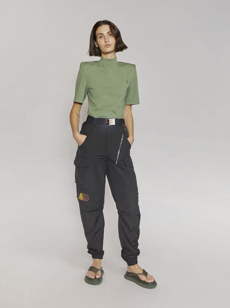 "THE ATTICO ""Tessa""olivine t-shirt 1"