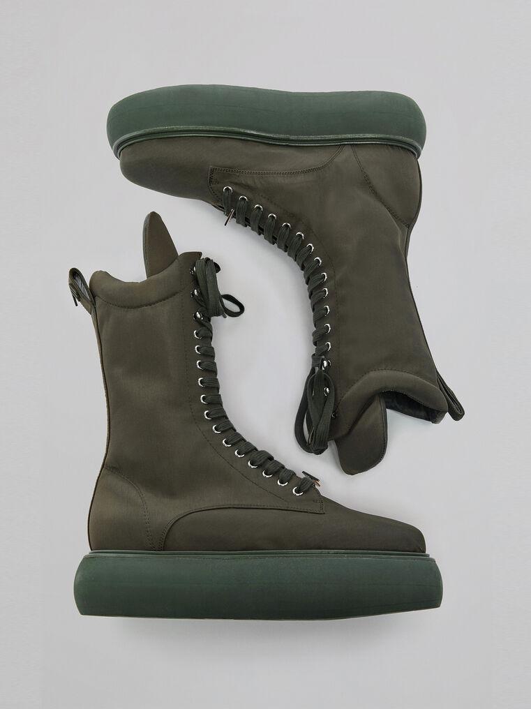 "THE ATTICO ""Selene"" military green boots flatform 2"