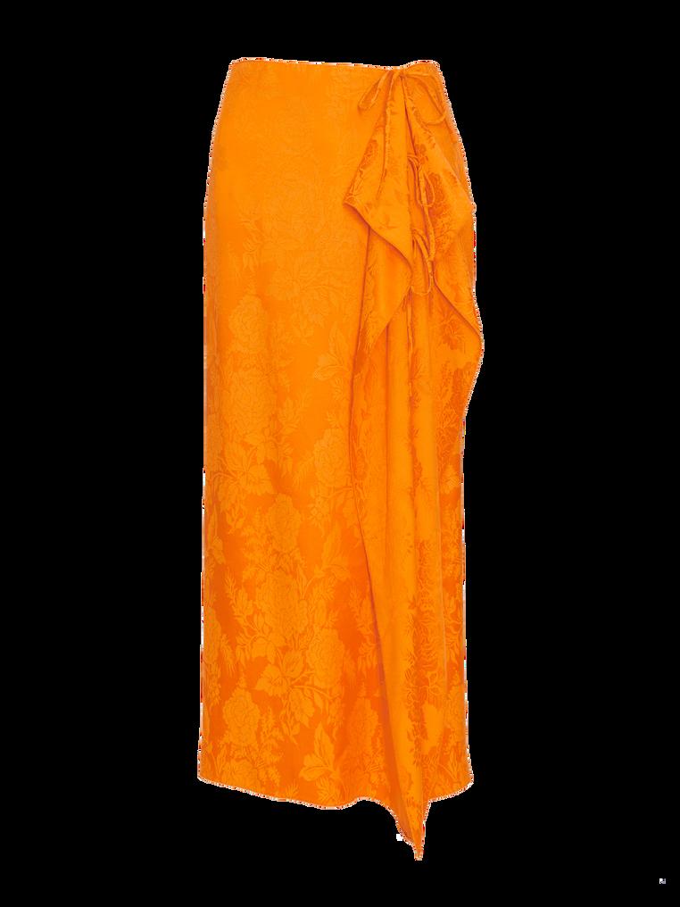 """The Attico """"Gia"""" orange long skirt 4"""