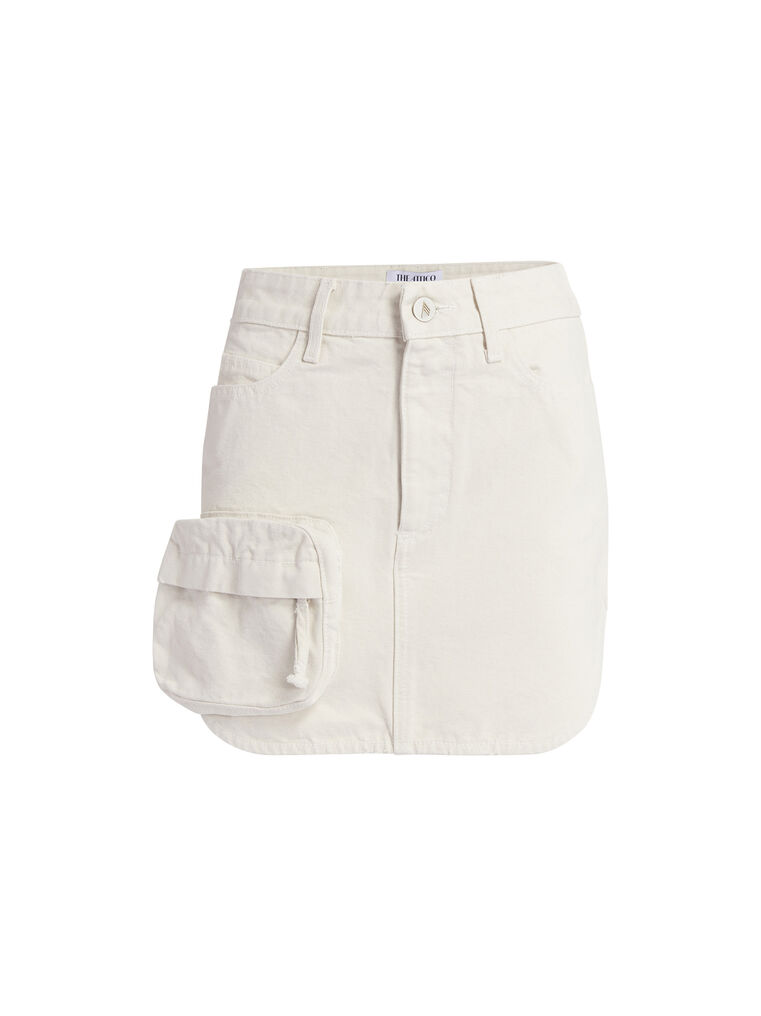 THE ATTICO Cream mini skirt 4