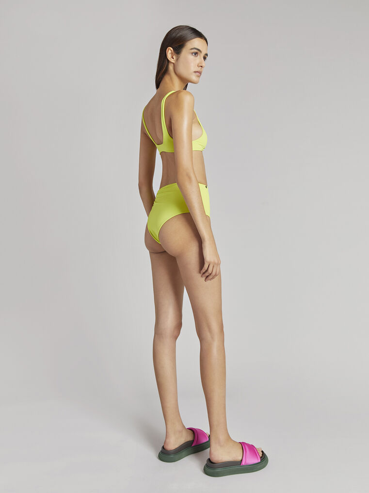 THE ATTICO Matte lime bikini bottom 2