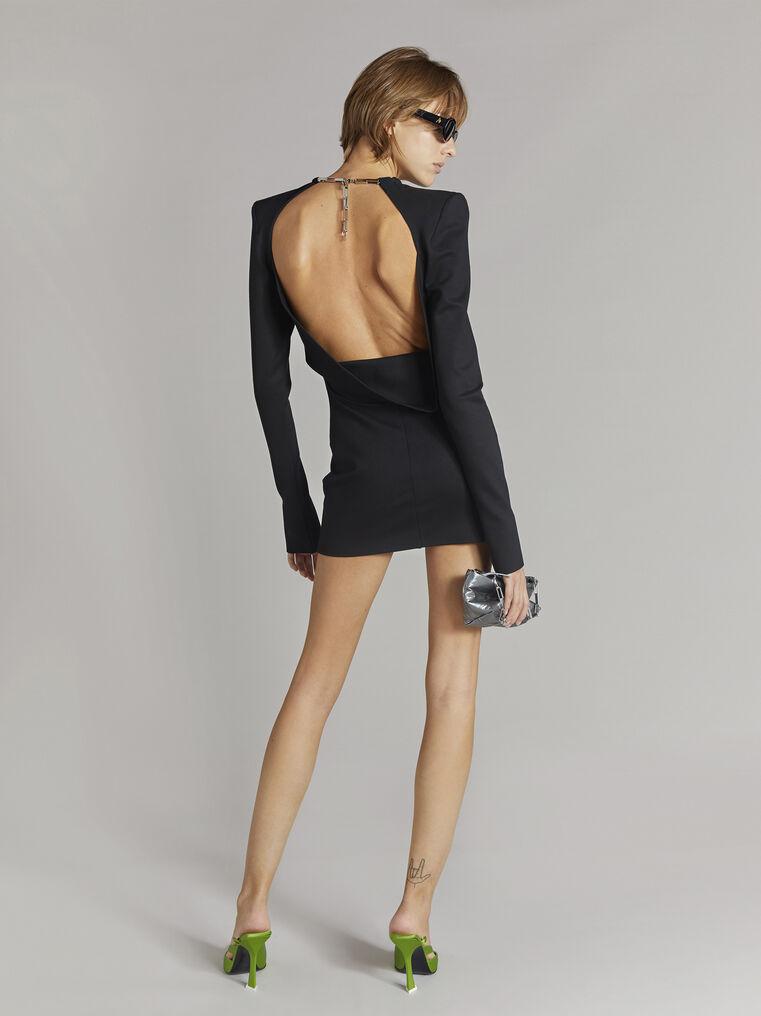"""THE ATTICO """"Elena"""" black mini dress 3"""