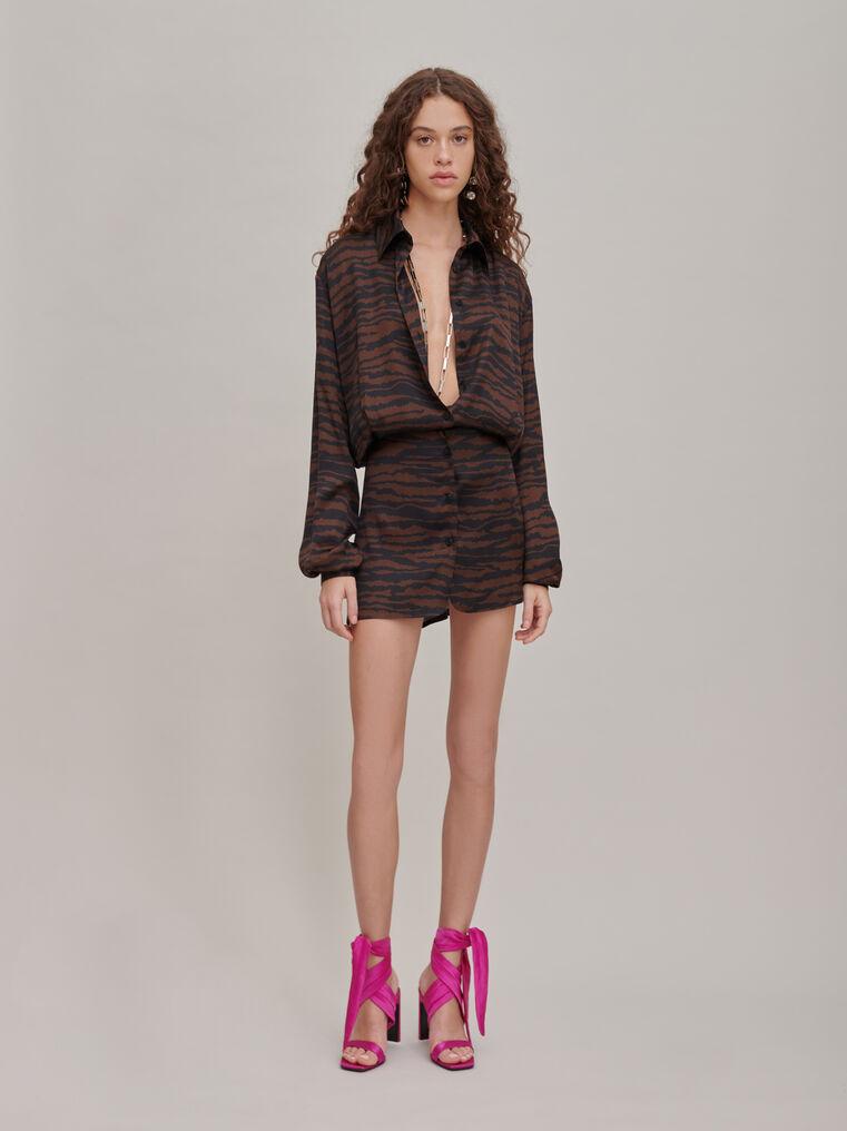 """The Attico """"Gigi"""" zebra print chemisier mini dress 1"""