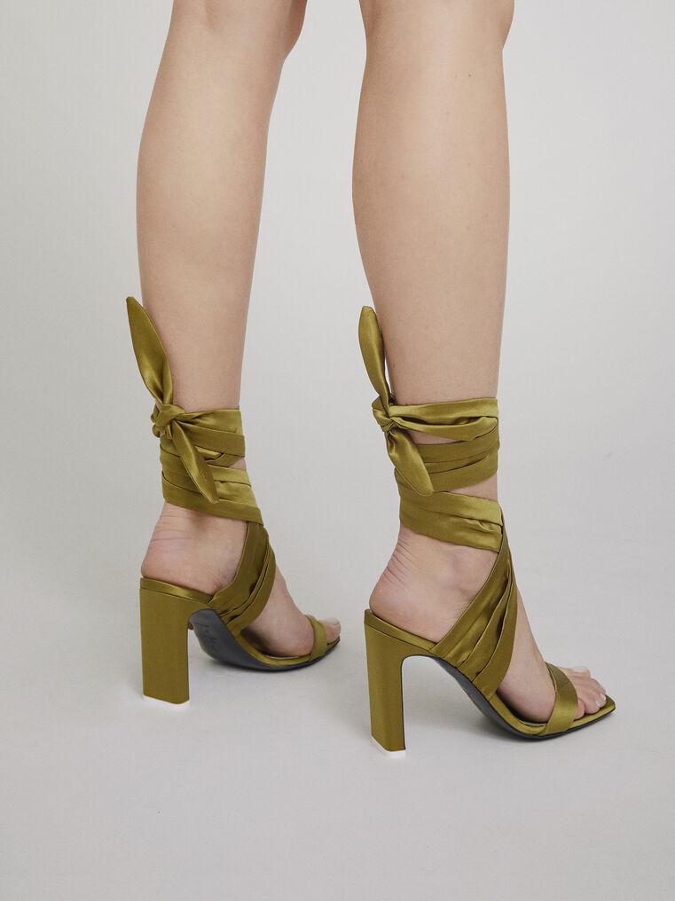 "The Attico ""Paris"" military green sandals 2"