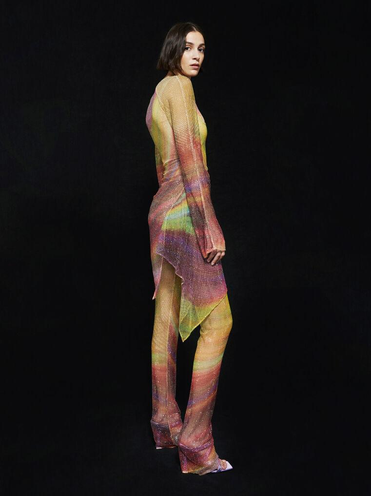 THE ATTICO ''Anemone'' multicolor mini dress 3