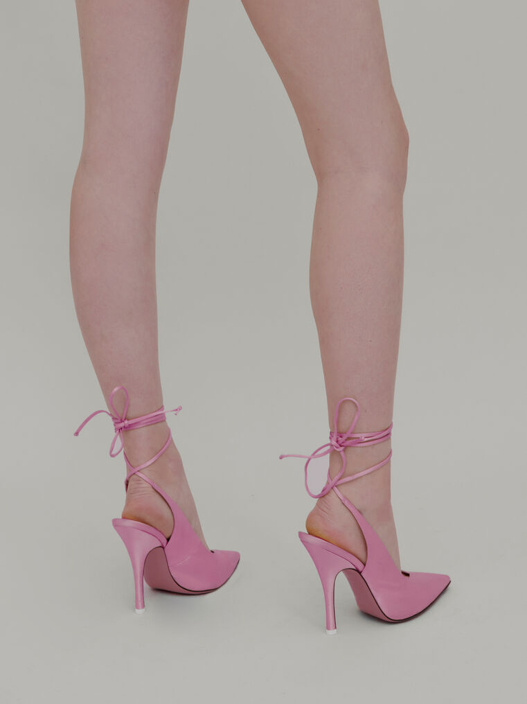 "The Attico ""Venus"" pink slingback 2"
