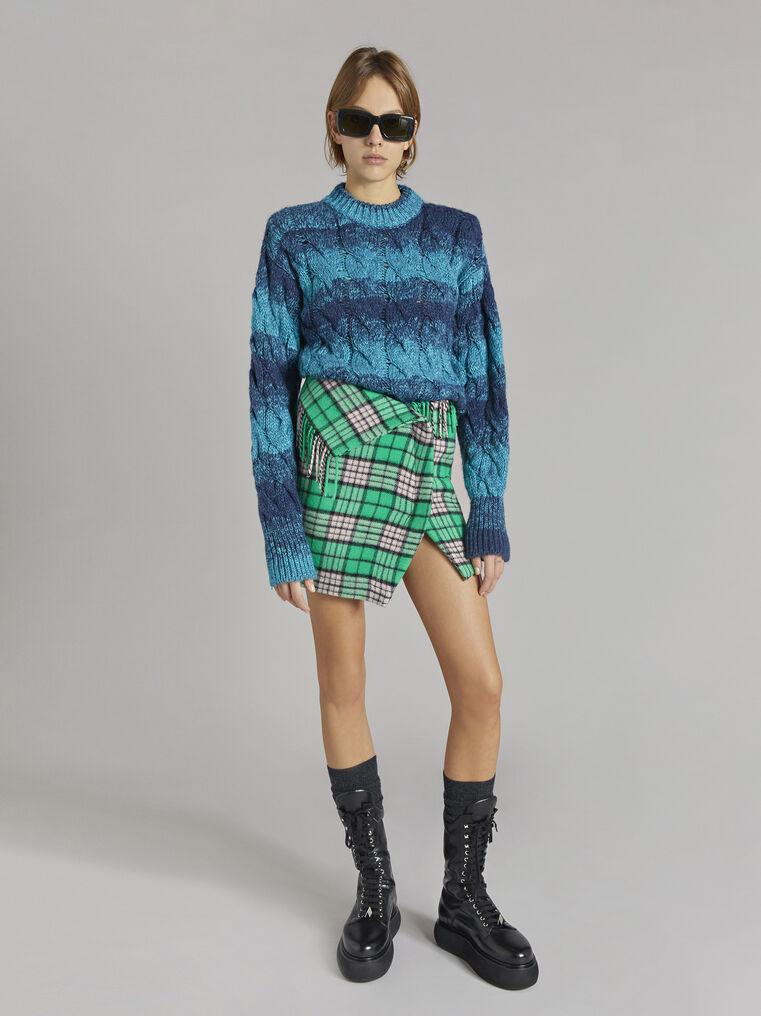 "THE ATTICO ""Kenna"" turquoise melange pullover 1"