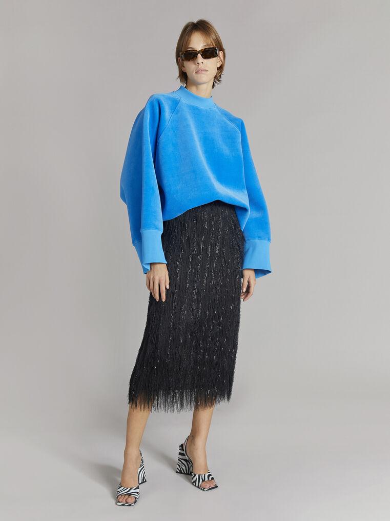 "THE ATTICO ""Vincen"" turquoise oversize sweatshirt 1"