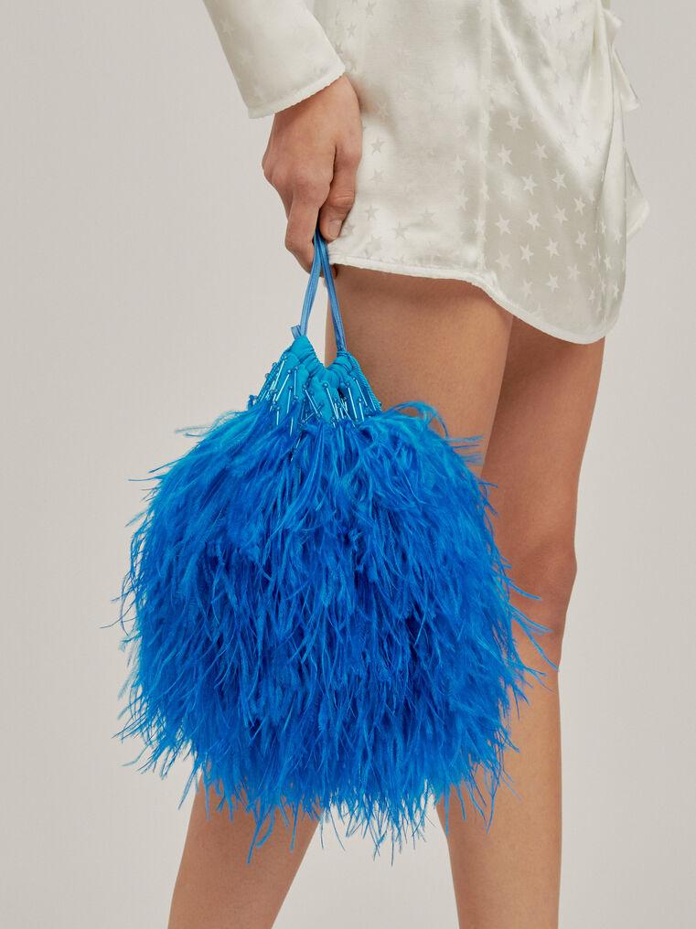 """The Attico """"Greta"""" turquoise pouch 1"""