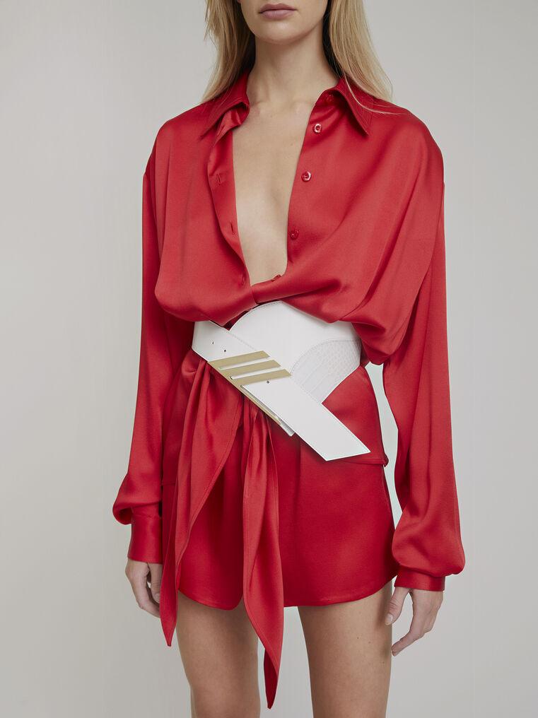 """The Attico """"Gigi"""" red chemisier mini dress 2"""