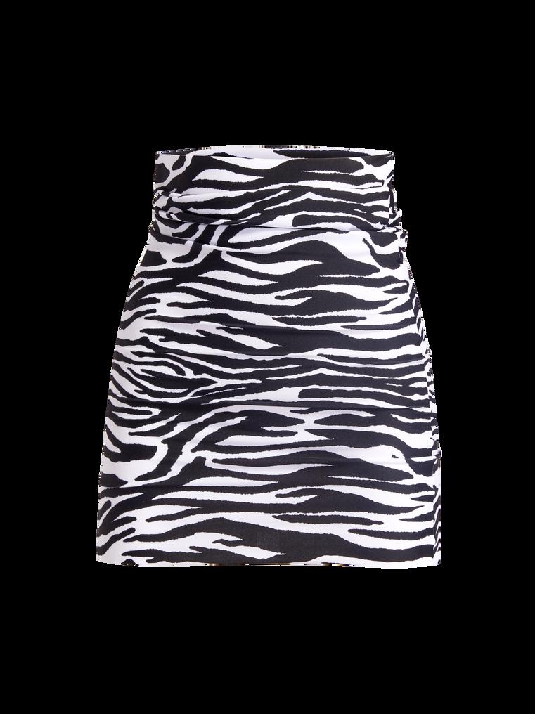 THE ATTICO Zebra printed mini skirt 4