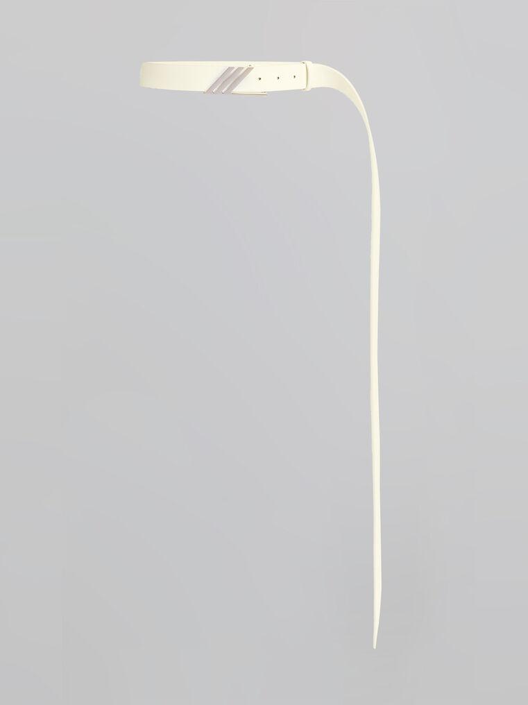 THE ATTICO Pale yellow long belt 1