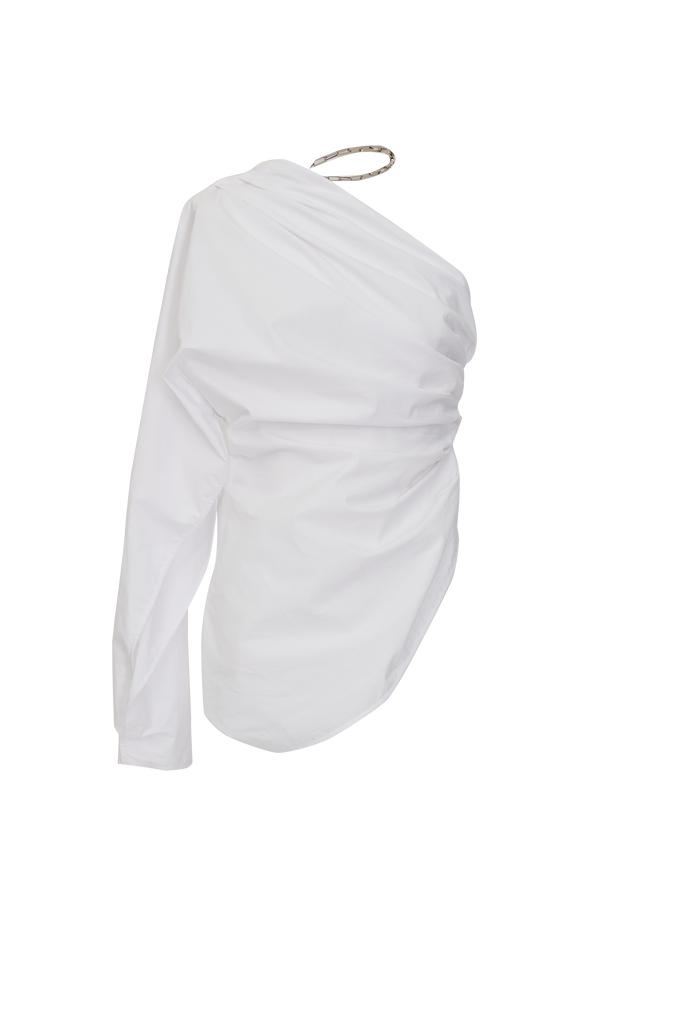 The Attico Single shoulder top with chain detail 4